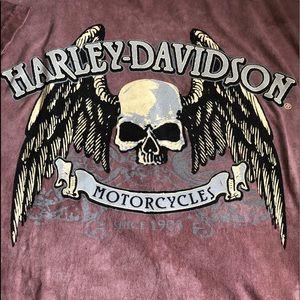 Harley-Davidson Tie Dye Skull Graphic T-Shirt